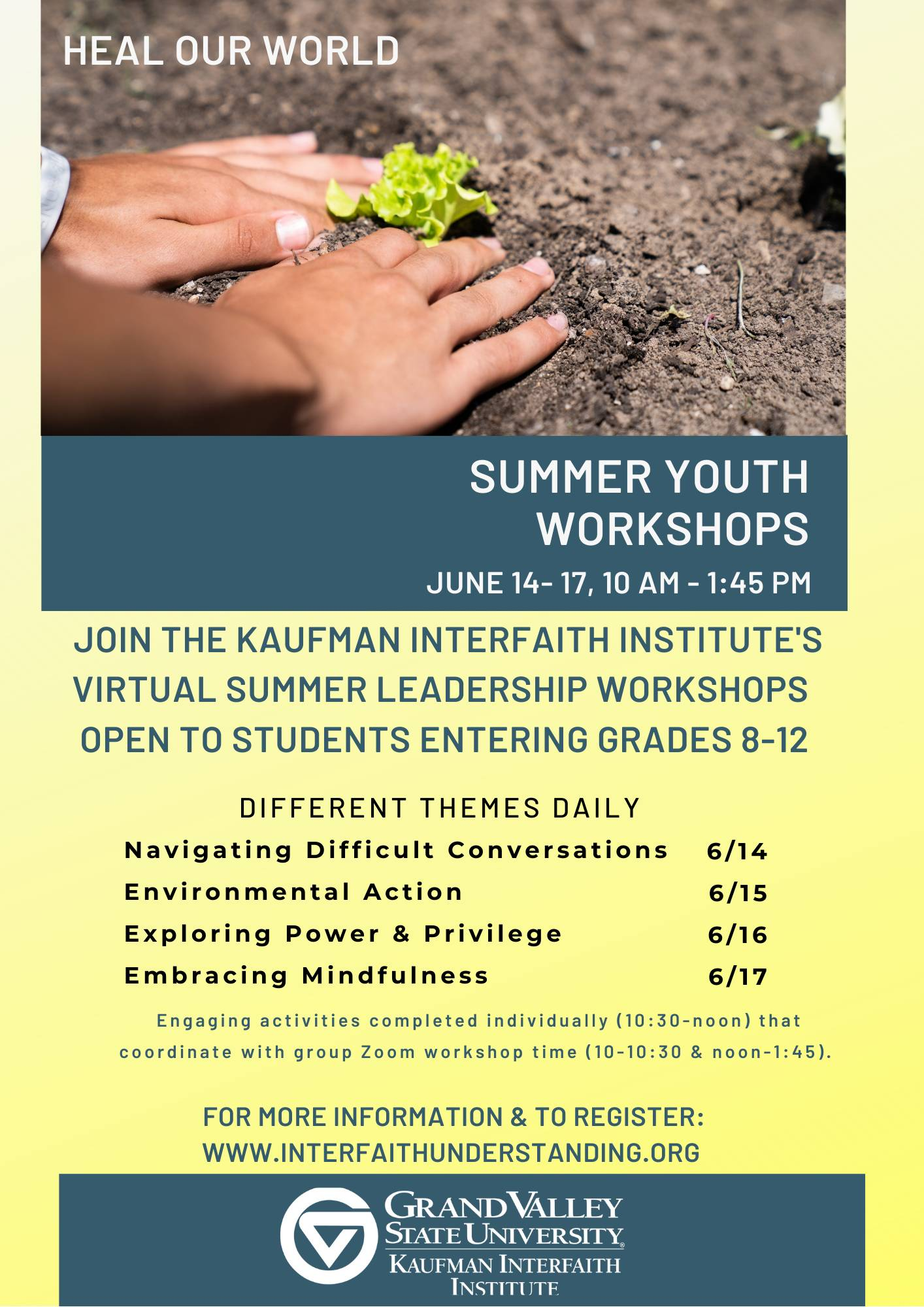 Youth Interfaith Leadership Workshops - click for info